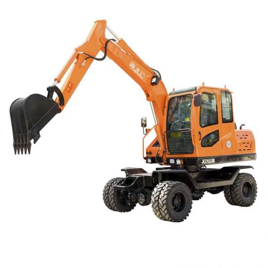 Jing Gong 75S small wheel excavator