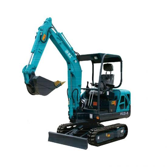 Jing Gong 22L 2 ton small rubber track excavator with imported hydraulic system