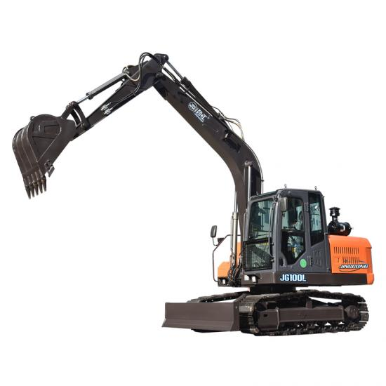 Jing Gong 100L 8.8 ton crawler mounted excavator with backhoe